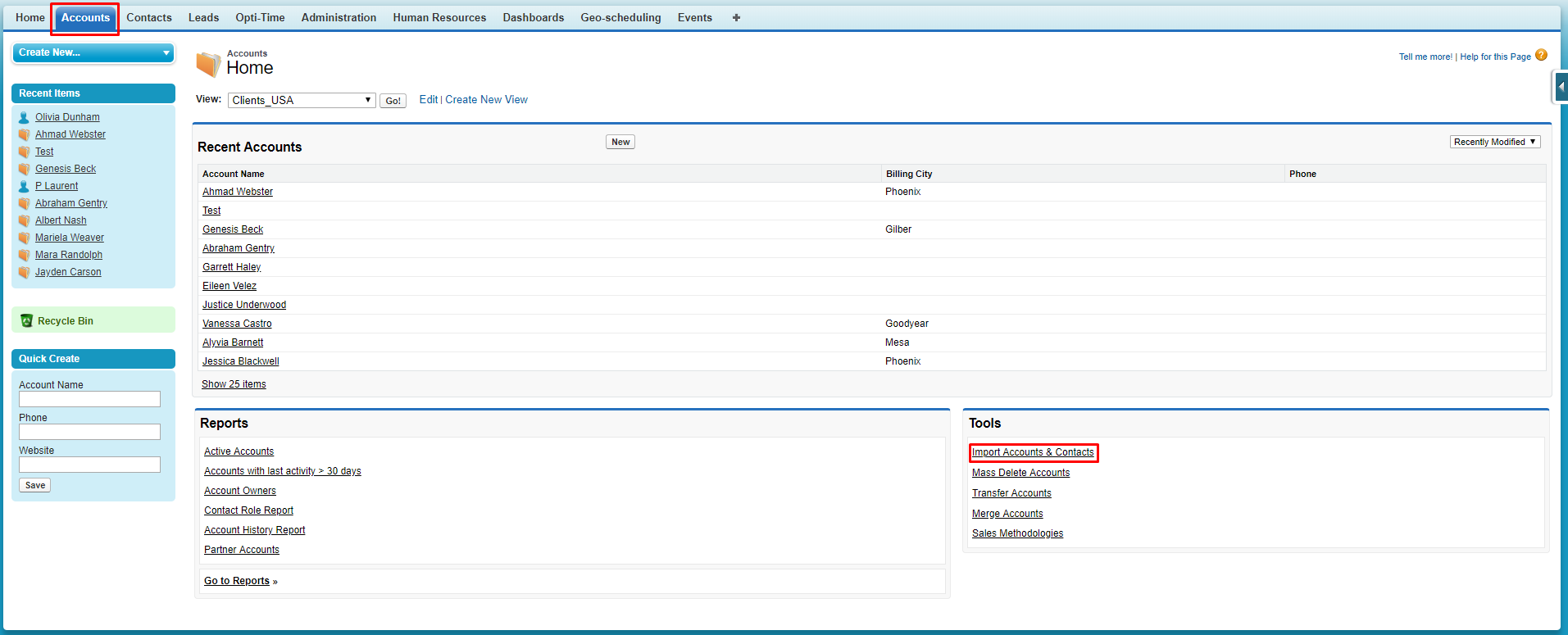 Import data to Opti-Time for Salesforce | Opti-Time for